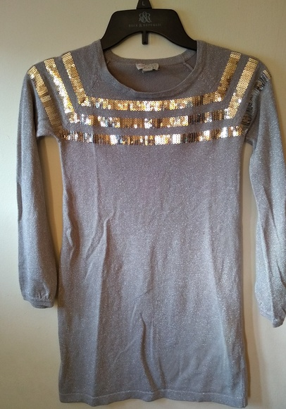 1989 Place Other - 1989 Place silver sequined dress - girls M 7/8